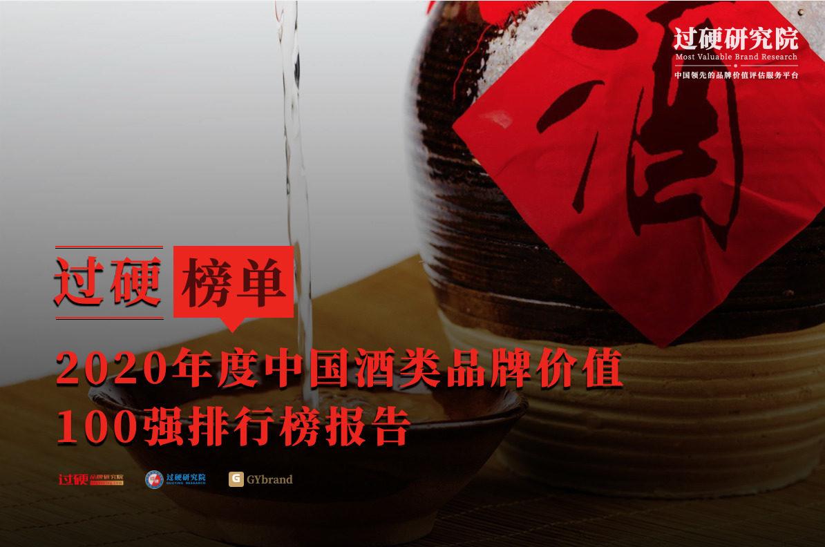 2020中国酒类品牌价值100强排行榜
