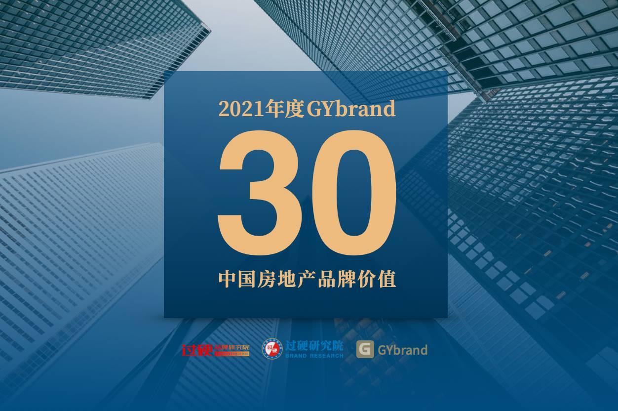 2021中国房地产排名30强 中国房地产品牌价值前三十名